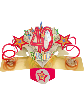Second Nature Pop Up Happy 40th Birthday Card