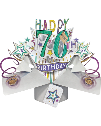 Second Nature Pop Up Happy 70th Birthday Card