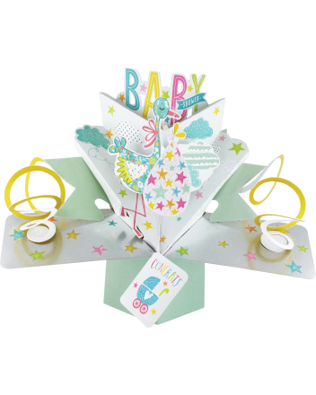 Second Nature Pop Up Baby Shower Card