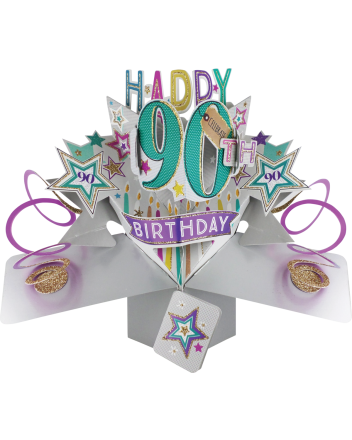 Second Nature Pop Up Happy 90th Birthday Card