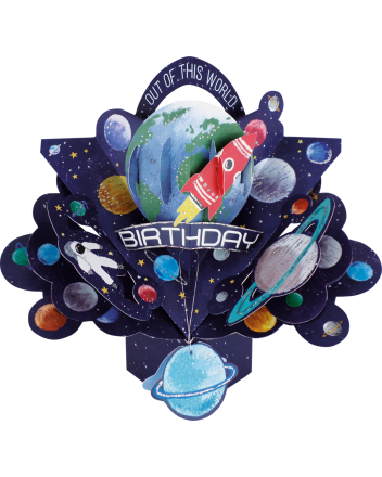 Second Nature Pop Up Outer Space Birthday Card