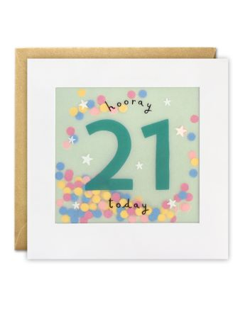 Paper Shakies 21 Today Birthday Card