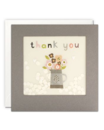 Paper Shakies Flower Jug Thank You Card