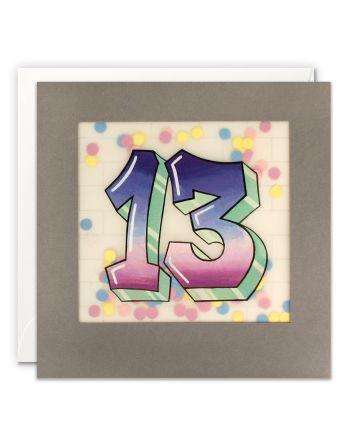 Paper Shakies Age 13 Graffiti Birthday Card