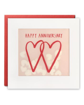 Paper Shakies Two Hearts Anniversary Card