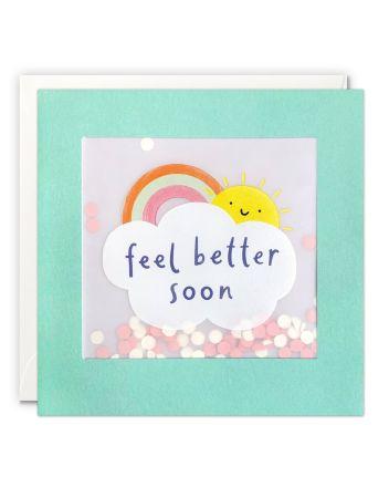 Paper Shakies Rainbow Get Well Card
