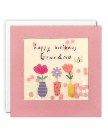 Paper Shakies Grandma Flowers Birthday Card