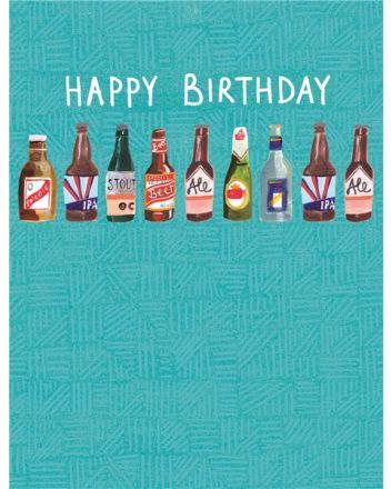 Paper Salad Beers Happy Birthday Card