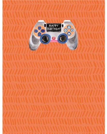 Paper Salad Game Controller Happy Birthday Card
