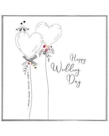 Cinnamon Aitch Piccadilly Happy Wedding Day Card