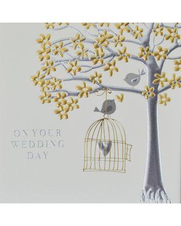 Wendy Jones Blackett Love Birds Wedding Day Card