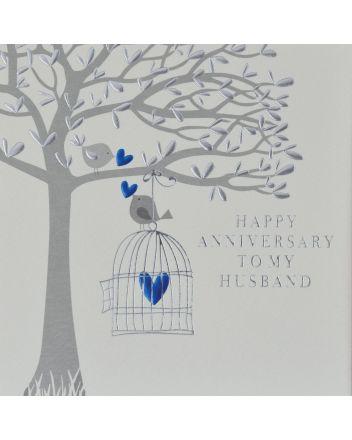 Wendy Jones Blackett Love Birds Husband Anniversary Card