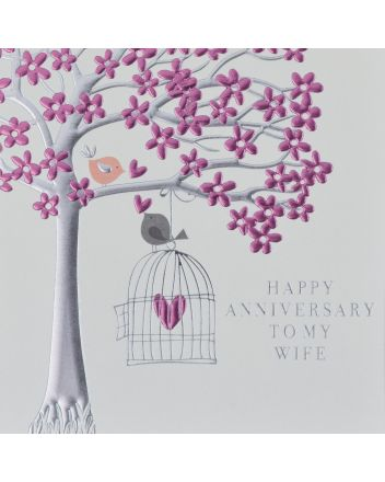 Wendy Jones Blackett Love Birds Wife Anniversary Card