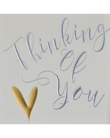 Wendy Jones Blackett Gold Heart Thinking of You Card