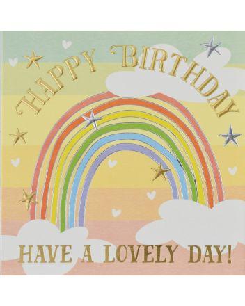 Wendy Jones Blackett Rainbow Lovely Day Birthday Card