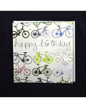 Wendy Jones Blackett Quicksilver Cycling Birthday Card