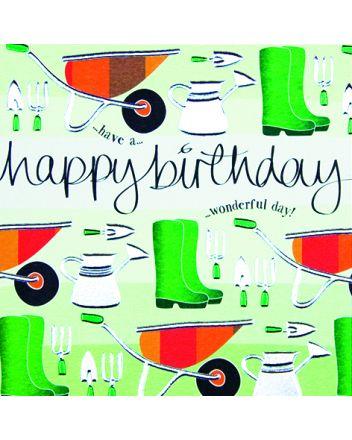 Wendy Jones Blackett Gardening Birthday Card