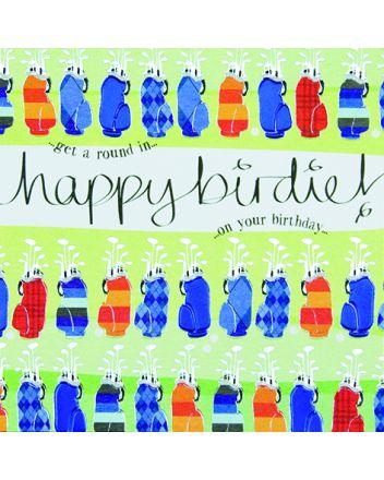 Wendy Jones Blackett Quicksilver Golf Birthday Card