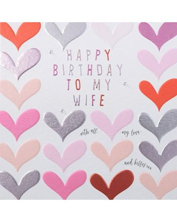 Rainbow Drops Wife Birthday Card