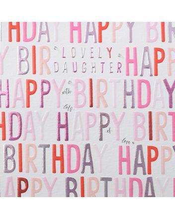 Rainbow Drops Daughter Birthday Card