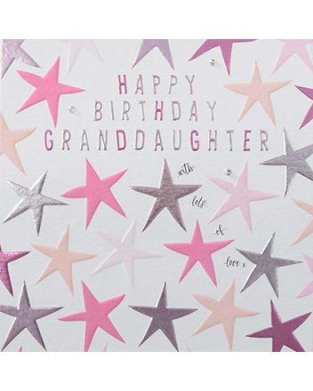 Rainbow Drops Granddaughter Birthday Card