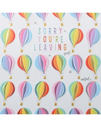 Rainbow Drops Sorry You're Leaving Card