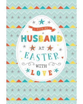 ICG Husband Stars and Egg Easter Card