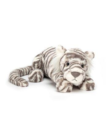 Jellycat Sacha Snow Tiger Little Soft Toy