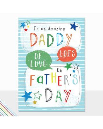 Laura Darrington Amazing Daddy Fathers Day Card