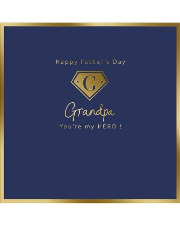 Mint Grandpa My Hero Fathers Day Card