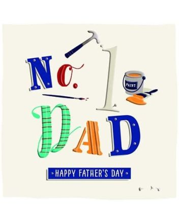 Ling DIY No 1 Dad Fathers Day Card