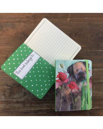 Alex Clark Border Terrier Dog A6 Notebook