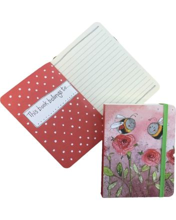 Alex Clark Bees and Roses A6 Notebook