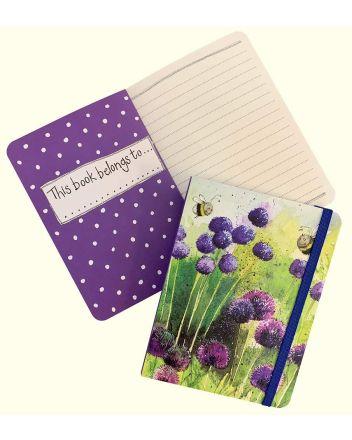 Alex Clark Alliums and Bees A6 Notebook