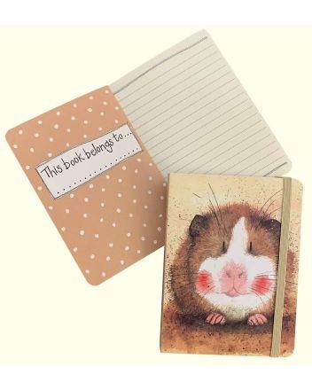 Alex Clark Gilbert Guinea Pig A6 Notebook