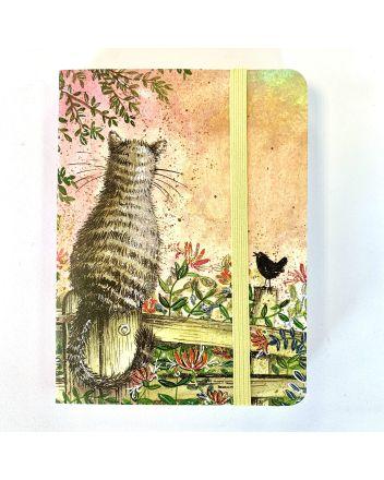 Alex Clark Honeysuckle Cat  A6 Notebook