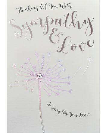 WJB Star Dusted Sympathy Card