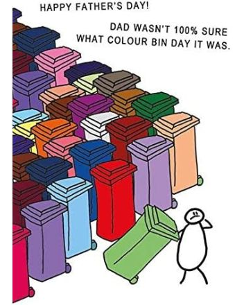 Ling What Colour Bin Fathers Day Card