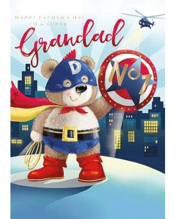 Ling Super Hero Grandad Fathers Day Card