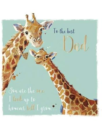Ling Giraffe Dad Fathers Day Card