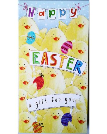 Happy Easter Chicks Money Wallet