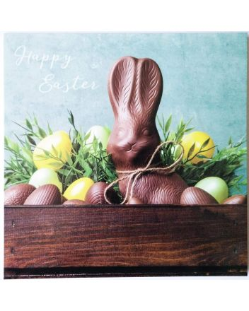 Ling Chocolate Bunny Easter Card