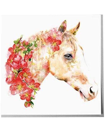 Lola Designs Horse Greeting Card