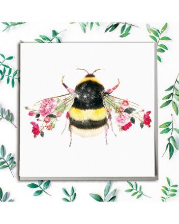 Lola Designs Bumblebee Greeting Card