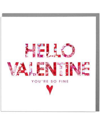 Lola Hello Valentine Greeting Card