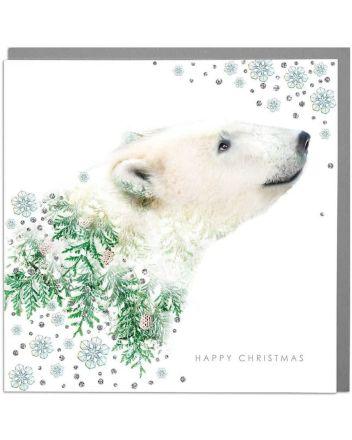 Lola Designs Polar Bear Christmas Card