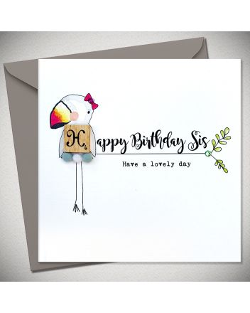 Bexy Boo Scrabbley Pom Pets Sister Birthday Card