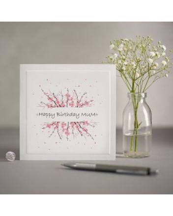 Mrs Lovesy Cherry Blossom Mum Birthday Card