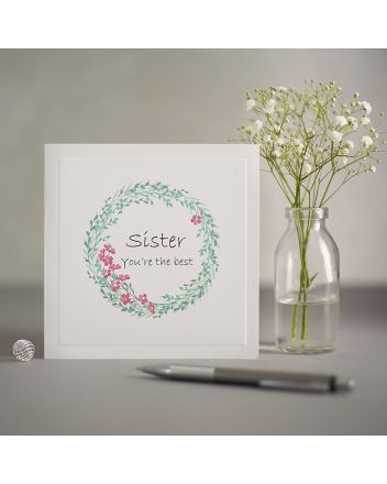 Mrs Lovesy Best Sister Birthday Card