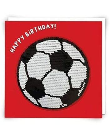 Redback Football Sequin Birthday Card